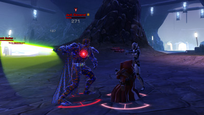 My pet Jawa and I taking on a Jedi.