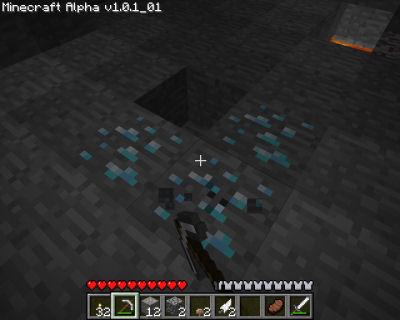 Score! I found a second diamond vein while taking screenshots!