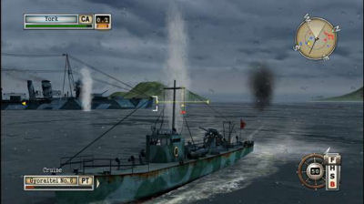 PT boat versus heavy cruiser, I wonder how this will turn out.