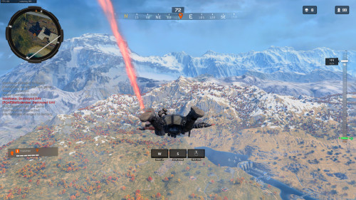 Parachuting down in Blackout!