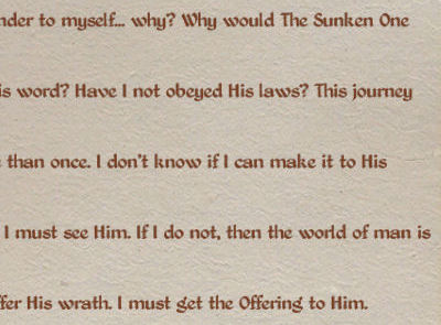 A sample of page 2 of Slythe's journal.