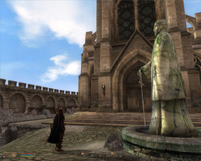 Like a sore thumb, the Chapel of Talos in Bruma.