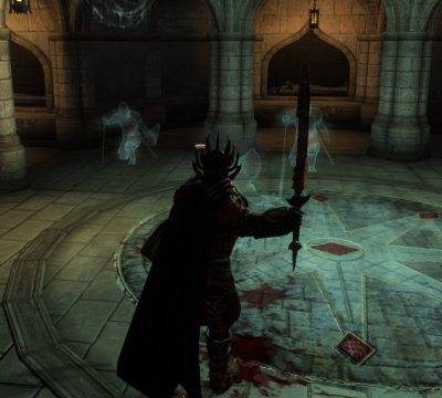 Hitting ghosts with a sword is actually harder than you might think.