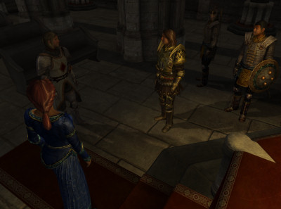 Martin and I attempt to convince Bruma's Countess to let us destroy her city.