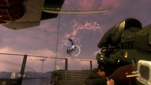 Holding out against a ton of Covenant air with nothing but a huge pile of heavy weapons.