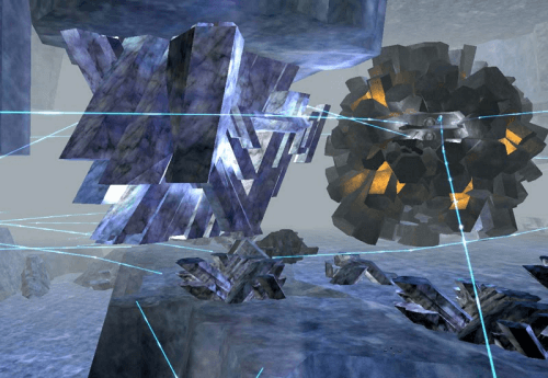 Core Combat's caverns looked like nothing else in the game.