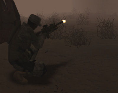 Shoot first, identify targets later. What? It's a fucking sandstorm!