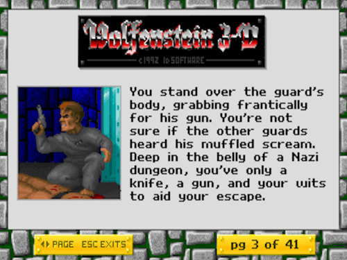 The introduction to episode 1 (as taken from the in-game readme in the shareware version!)