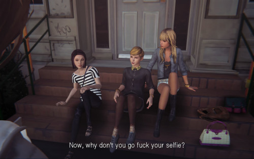The infamous 'Go fuck your selfie!' line. Oh, and fuck Victoria Chase!