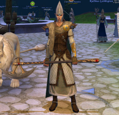 My main, a High Elf White Lion, posing at rank 18.